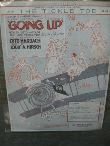 Antique Vintage Sheet Music Going Up Unique Artwork WWI #3