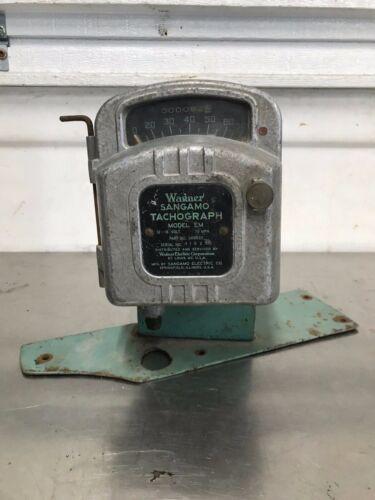 Vintage  Wagner Sangamo Tachograph Meter Clock Model EM