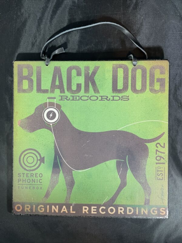 BLACK DOG RECORDS MEMO BOARD WITH MAGNETS DOGS ROCK