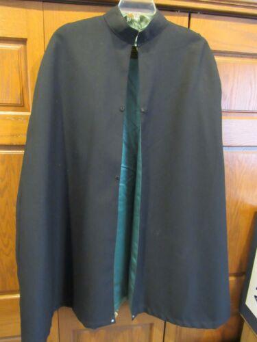 KNIGHTS OF COLUMBUS BLACK CAPE GREEN LINING  - LYNCH & KELLY