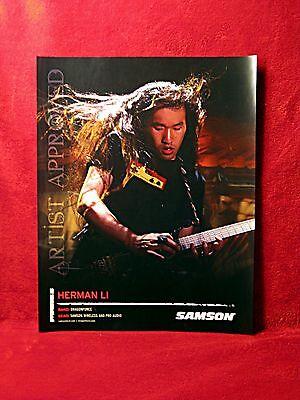THREE<<>>Dragonforce<>Herman Li & Sam Totman Promo Posters<>Zoom<>GHS