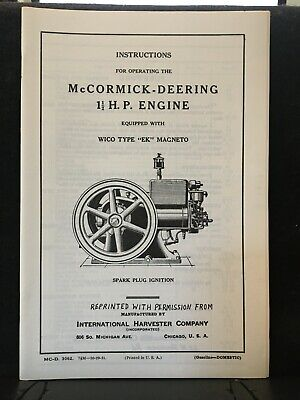 Mccormick - Deering 1 12 Hp Engine Operating Manual