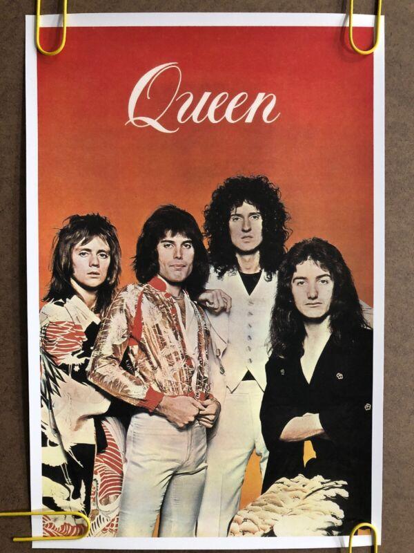 Vintage Poster Queen Freddie Mercury Music Memorabilia Head Shop Pin Up 1970's