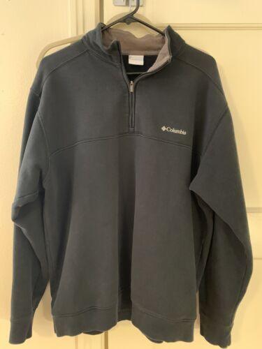 Columbia Mens Pullover Shirt Size L Quarter Zip Black