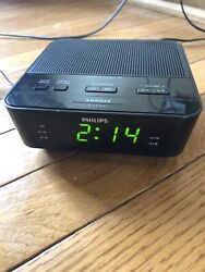 Philips FM Dual Alarm Clock Radio AJ3116M Black - Free Shipping
