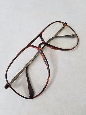 Mens Bill Blass 140 Polylite Eyeglasses Frame Vintage Amber Frame Demo Lens NWOT
