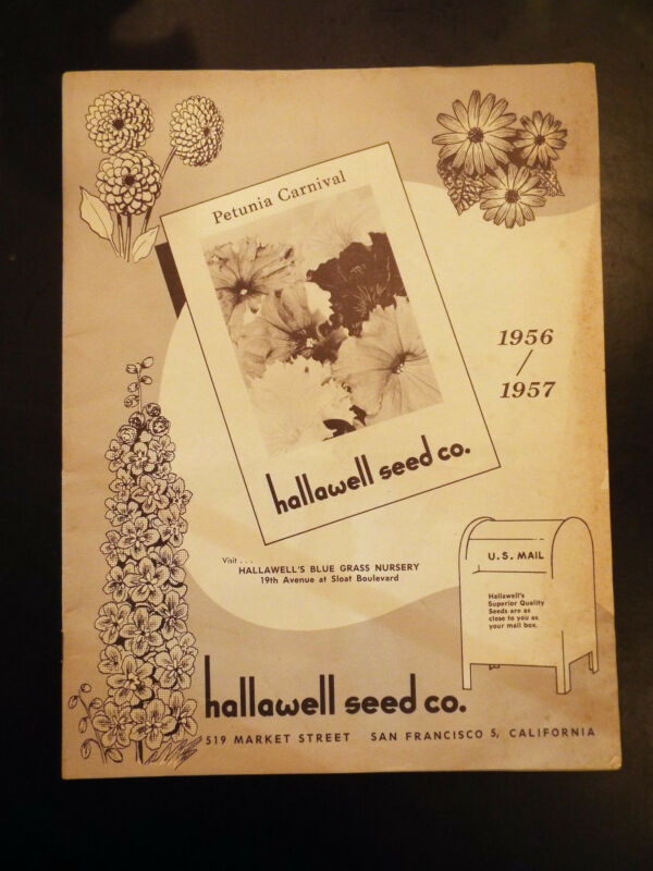 Hallawell Seed Co. Blue Glass Nursery Catalog 1956/1957