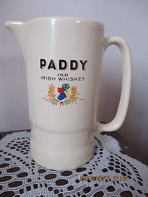 PADDY OLD IRISH WHISKEY  WATER JUG 120MM HI X 120 MM CERAMIC BEWARE OF COPIES