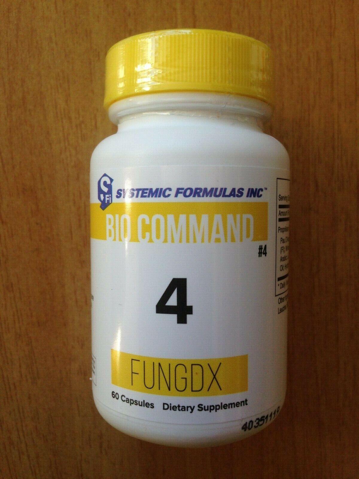 Systemic Formulas Bio Command 4 – FungDX 60 Capsules