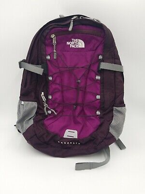 The North Face Borealis Backpack Purple Gray Laptop Sleeve Hiking School