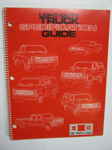 1980 GMC LIGHT TRUCK SPECIFICATION GUIDE 25 PAGES FOLDOUTS    ORIGINAL