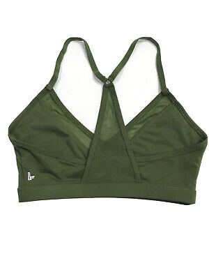 Women's Green DEMI LOVATO FABLETICS Sports Bra Size Small PADS NOT INCLUDED