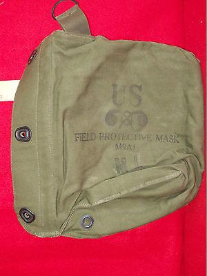 US MILITARY VITENAM ERA FIELD PROTECTIVE GAS MASK BAG M9A1 POUCH