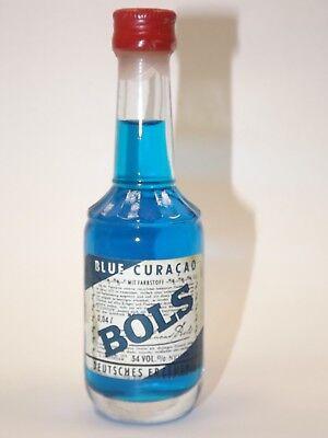 BOLS BLUE CURACAO Liqueur 0,04 l 34% mini flasche bottle miniature bottela OLD ()