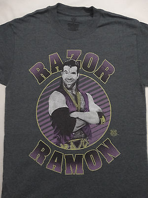 Razor Ramon Bad Guy Officially Licensed Wrestling WWE Gray Dark Heather (Dark Heather T-shirt)
