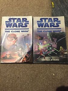 Two Star Wars The Clone Wars Books (Mediocre Condition)