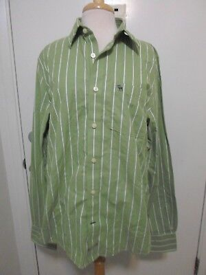 Abercrombie Fitch Muscle Green White Striped Shirt XL NEW
