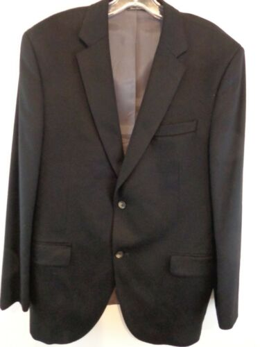 Jack Victor Collection Men 100% Cashmere Blazer Sz 44 Regular Black
