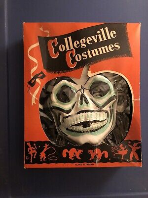 Vintage Collegeville Costumes Skull Halloween Costume