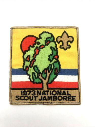 "Vintage 1973 National Boy Scout Jamboree Large 4.5"" Back Patch BSA"