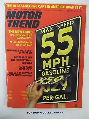 Motor Trend Magazine   April 1975     10 Best Selling Cars In