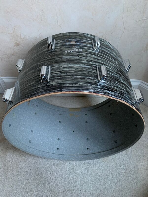 "Vintage Rogers 22"" X 14 Inch Bass Drum Shell Black Oyster"
