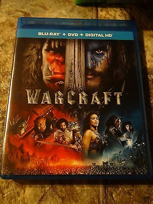 Warcraft  Blu Ray Dvd  2016  Includes Digital Copy With Slip Cover New