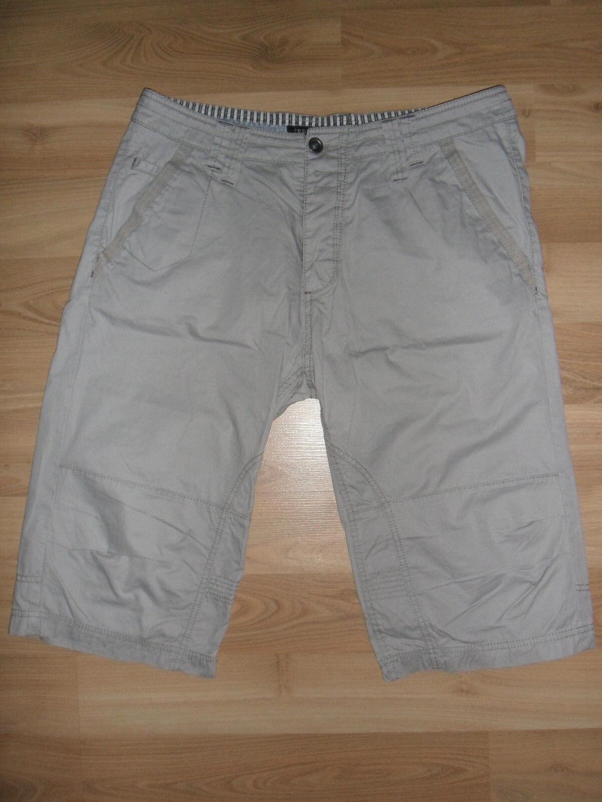 Original Esprit Shorts kurze Hose Farbe Beige Größe 34