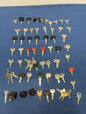 Lot Of Heavy Equipment Key Caterpillar 70 Keys Dithchwithch Kawasaki Volvo Jlg
