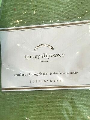 Pottery Barn Torrey Armless Chair Outdoor Slipcover Cushion