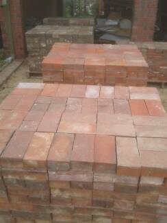 Recycled - RED CLAY PAVERS 20 sqm (230x112x75 mm)...REDUCED PRICE