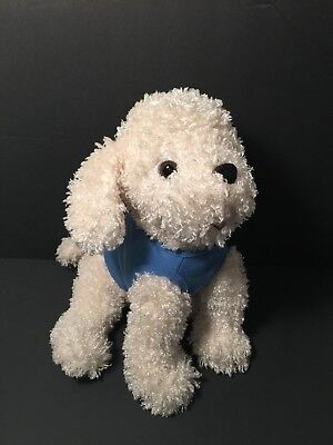 Princess Soft Toys by Melissa & Doug Ivory dog blue shirt plush Bichon Frise