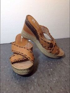 NEW Browns brand wedge sandals, leather,size 37