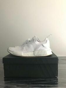 Adidas nmd r1 pk white with gum sole