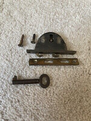 Antique Writing Slope Or Tea Caddy Working Lock And Key