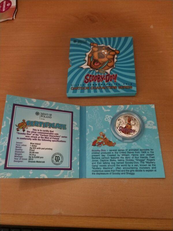 2013 $1 Niue Proof Scooby Doo Cartoon Characters Coin 6999