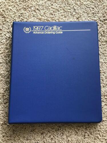 1987 Cadillac   original dealership advance ordering guide