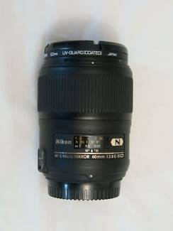 Nikon micro lens mint condition AF-S 60mm f2.8 G ED