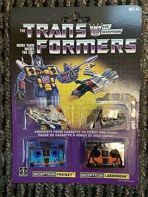 Transformer Vintage G1 Reissue Cassette 2-Pack Decepticons Frenzy and Laserbeak