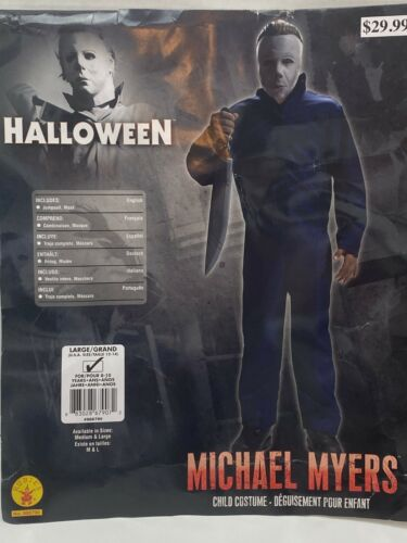Michael Myers Halloween Kids Costume Size Large Age 8-10