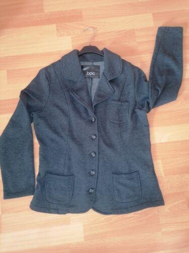 bpc Damen Sweatjacke Jersey Blazer Jacke grau GR. 42 44 XL XXL Damen