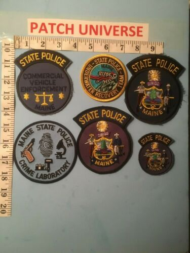 LOT OF 6 DIFFERENT MAINE  STATE POLICE SHOULDER PATCHES  N009