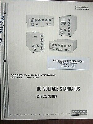 Cohu Dc Voltage Standard 321323 Series Operating Maintenance Instructions