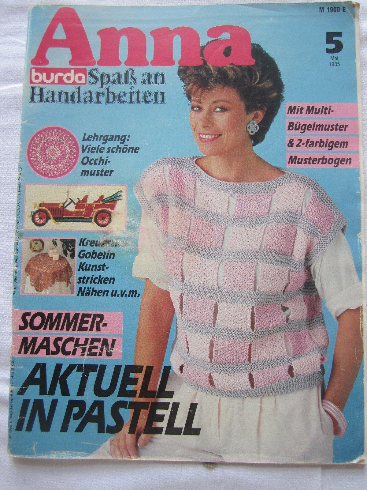 Anna Spass mit Handarbeiten Mai 1985