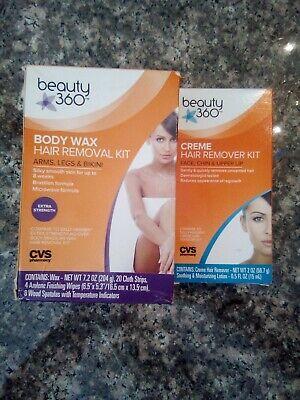 Beauty 360 Body Wax Kit & BEAUTY 360  CREME HAIR REMOVAL