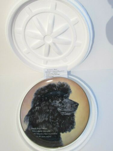 "Cherished Poodles Plate by Danbury Mint  "" Love They Share ""-NEW"