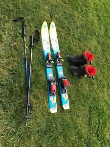 Used skis and boots