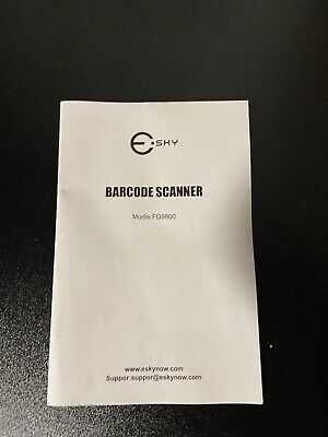 Esky Barcode Scanner Wired Handheld Bar Code Scanner With Adjustable Stand