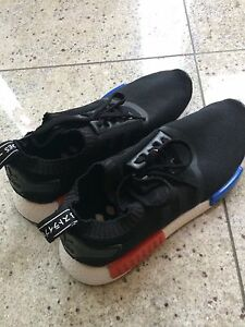 NMD OG PK black and red and blue