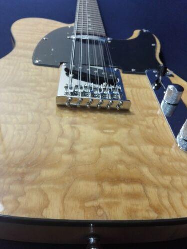 Haze STL-100BNA-12SB 12-String Electric Guitar,Natural Quilted Top+Free Gig Bag